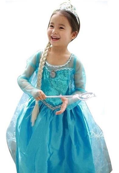 Crianças Meninas Vestido De Princesa De Mangas Confortável S