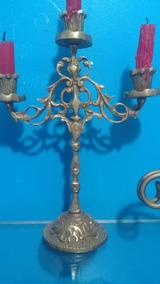 Castiçal De Bronze - 3 Velas