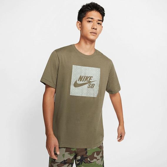 Camiseta Nike Sb Tee Logo Nomad Verde Original + Nf