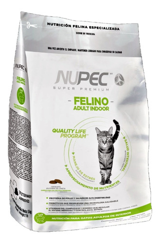 Alimento Nupec Felino Adulto Indoor 1.5 Kg Resellable