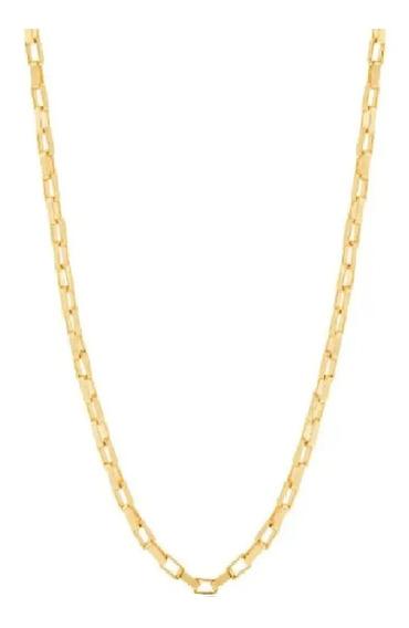 Cordão Feminino Cadeado Rommanel Folheado Ouro 50cm 530715