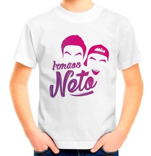 Camiseta Camisa Blusa Infantil Irmãos Neto Felipe Luccas