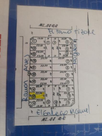 Vendo Lote De 10 X 22.50 En El Barrio El Casal Mar Del Plata
