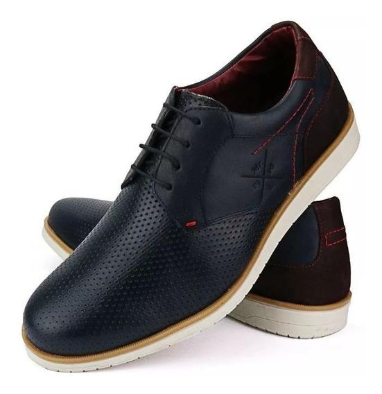 Sapato Sapatênis Casual Masculino Em Couro Lançamento Oferta