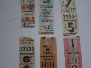 9 Boletos Capicúas Cinco Dígitos Iguales Coleccionistas