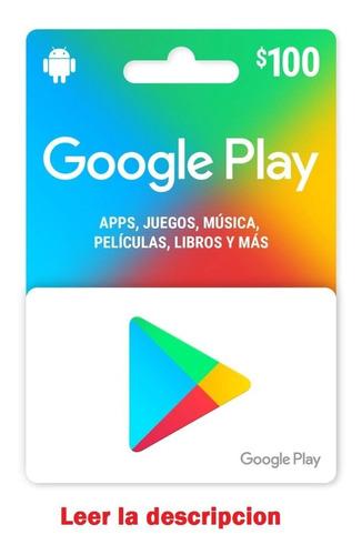 Tarjeta Google Play 100