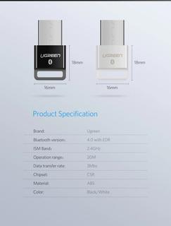 Bluetooth 4.0 Dongle Ugreen