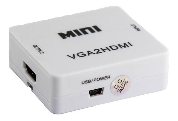 Conversor Vga A Hdmi Video Audio Full Hd 1080p Pc Notebook