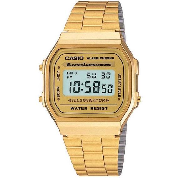 Relógio Casio Vintage Digital A168wg-9wdf Dourado
