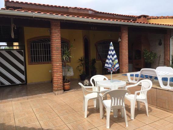 Casa Com Piscina Na Praia De Itanhaem Para Temporada,03 Dorm