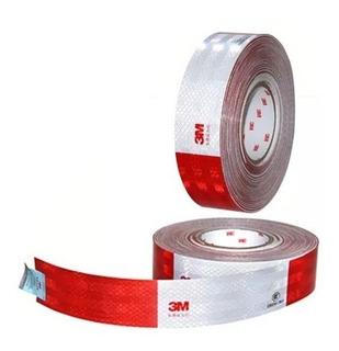 Cinta Reflectiva Rojo Blanco 3m Original 45 Metros