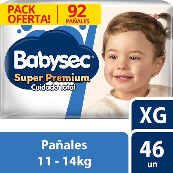 Pañal Babysec Super Premium Bipack Xg X92