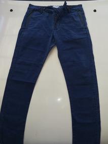 Pantalon Bershka Collection By Zara Azul Talla 38