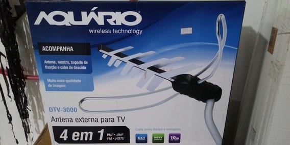 Antena Digital 4 Em 1 Dtv-3000 Aquário Com 16m Cabo