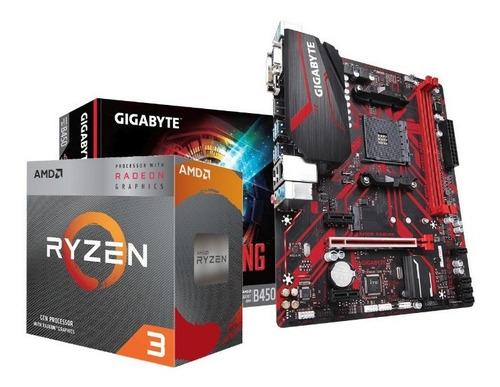 Kit Processador Amd Ryzen 3 3200g Gigabyte B450m-ga