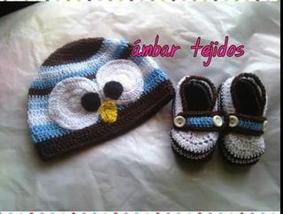 Conjunto Gorro Y Zapato Para Bebes