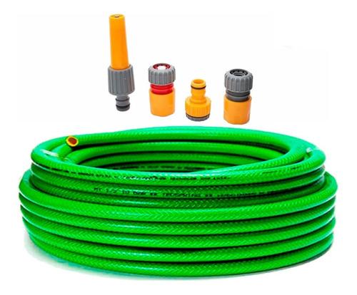 Imagen 1 de 10 de Manguera Riego 10 Bar ½ X 50mts Kit Basico Man1250 Aquaflex