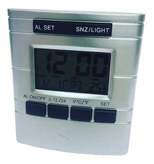Reloj Despertador Digital Termometro Fecha Luz Luft Rt130
