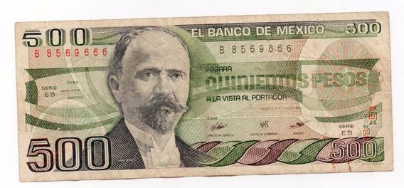 Billete 500 Pesos Madero Y Calendario Azteca 2
