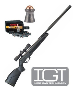 Kit Rifle Gamo Wildcat Whisper Igt 5,5mm Nitro Piston + 4x32
