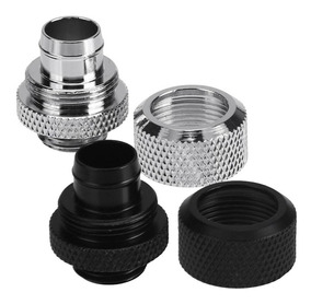 Fitting Mangueira 3/8 Water Cooler Custom - Prata / Preto