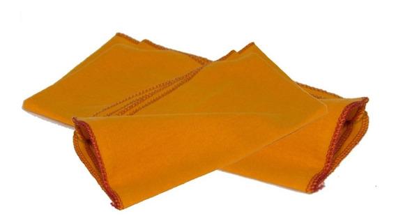 Flanela Amarela Hb Algodão Aveludado 38x58-cm 2 Duzias