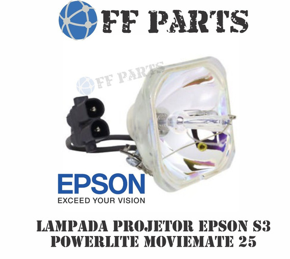 Lampada P/ Projetor Epson Elplp33 S3 Home 20 Moviemate 25 Nf