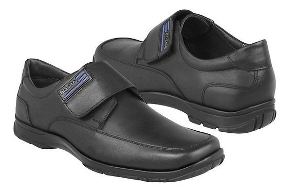 Zapato Escolar Blasito Para Niño Piel Negro 17eventiuno