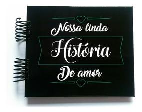 Álbum Scrapbook Presente Namorados Linda História #fls P