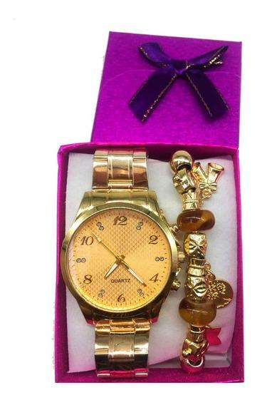 Kit 10 Relógio Feminino Com Pulseira Fashion Atacado