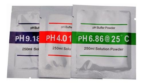 Polvo Solución Calibrar Medidor Ph Calibrador Phmetro Par