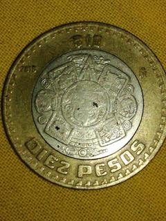 Moneda Mexicana De 10 Pesos Con Error De Acuñacion
