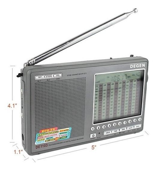 Rádio Receptor Degen De1103 Am Fm Sw Lw Ssb Frete Grátis