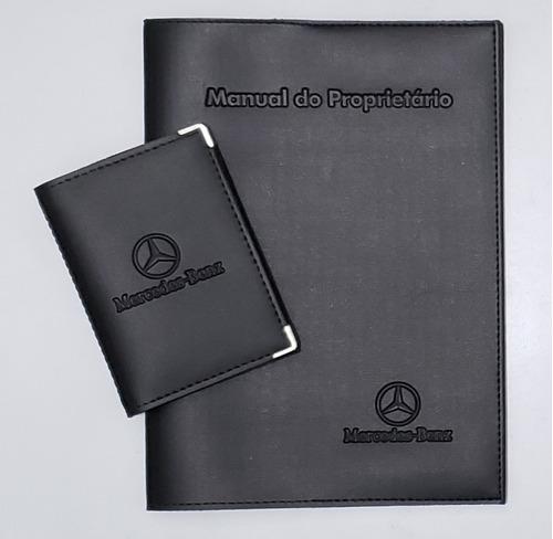 Imagem 1 de 6 de Porta Manual + Porta Documento P Mercedes Couro Ecológico