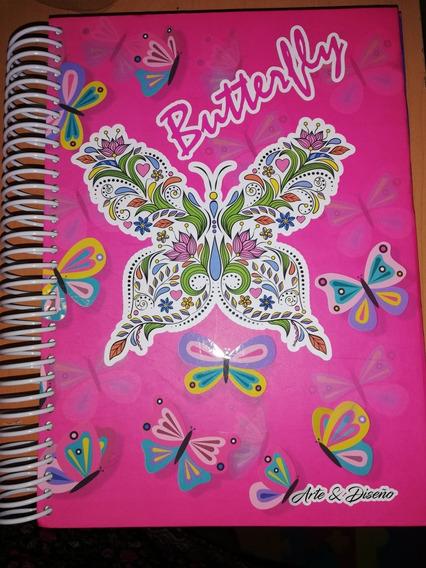 Cuaderno Libreta Pasta Dura 180 Hojas Cuadro Chico 4 Materia