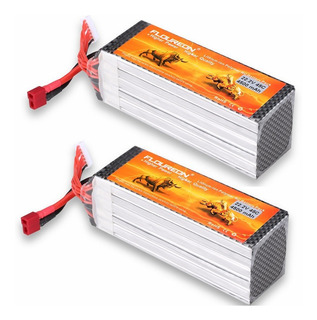 Floureon 2packs 6s 22.2v 4500mah 45c Batería De Lipo Paqu