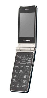 Celular Semp Go 1m 2,8 Pol 32mb Flip 2 Chips Fm Novo