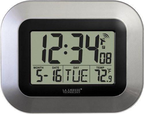 La Crosse Reloj De Pared Digital Atómico De Wt-8005u-s De