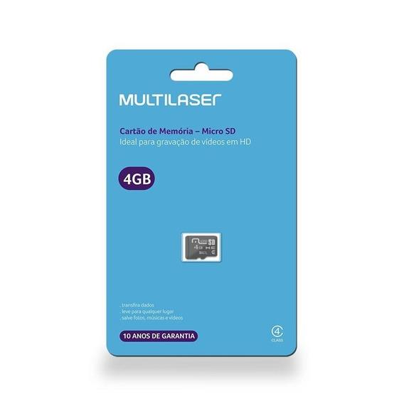Cartão De Memória Classe 4 4gb Multilaser