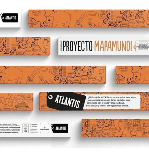 Atlantis Mapa Mundi Para Pintar Minujin Giro Didáctico