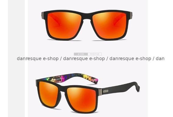 Óculos De Sol Dubery Polarizado Uv400 Laranja