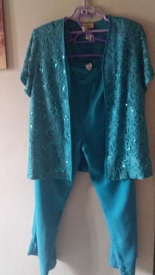 Conjunto Pantalón 3 Piezas De Fiesta O Casual Para Dama 10 $