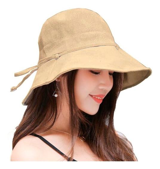 Sombrero De Mujer Algodon Proteccion Uv Flexible
