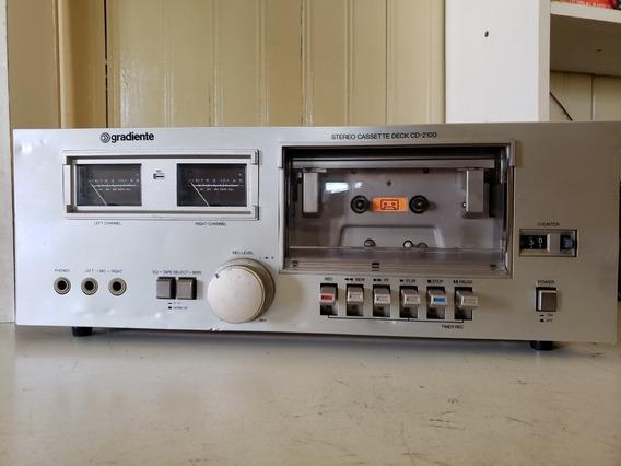 Tape Deck Gradiente Cd-2100 Leia A Descrição