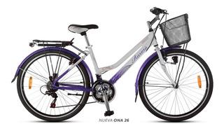 Bicicleta Paseo 18 V Aurora Ona 26 De Aluminio Oferta!! Envió Gratis A Todo El País