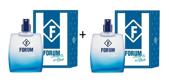 2 Perfumes Forum Jeans In Blue 50 Ml - Original E Lacrado