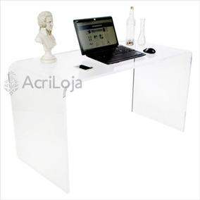 Escrivaninha Mesa De Computador De Acrílico Tam. 130x73x60cm