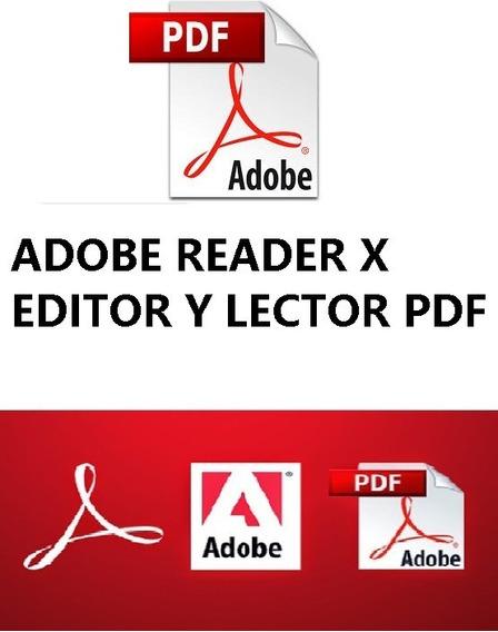 Adob Pdf Reader Y Editor Pro X - Entrega Inmediata