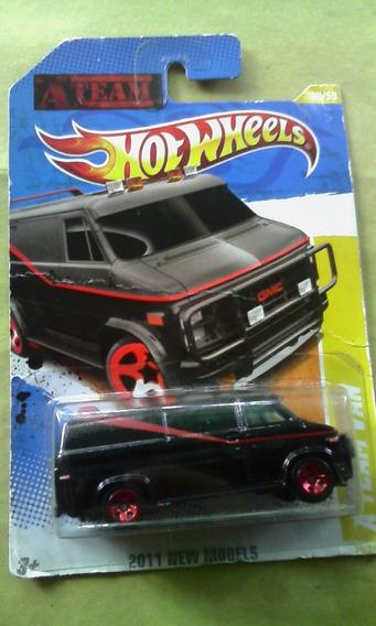Carro Hotwheels A Team Van (6 Verdes)