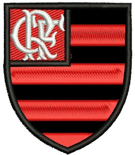 Patch Bordado Flamengo Escudo Termo Colante 12 Cm.